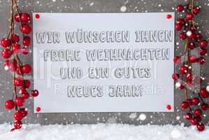 Label, Snowflakes, Christmas Decoration. Gutes Neues Means New Year