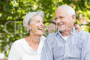 Glückliches Seniorenpaar