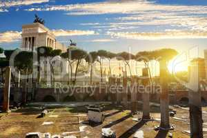 Vittoriano and Forum Traiani