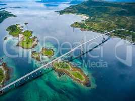 Tjeldsundbrua bridge in Norway