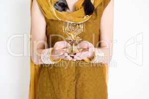 Woman celebrating Diwali