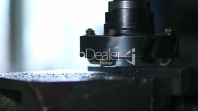 Rotating head with drilling machine bits and tools