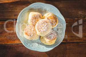 Sweet food on plate