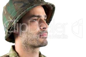 Close-up of confidence soldier