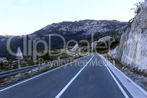 curve mountain road of highland Montenegro