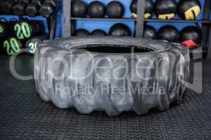 Rubber tire in gym