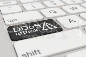 keyboard - DDoS attack - black
