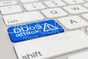 keyboard - DDoS attack - blue
