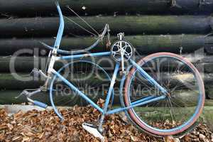 Old and broken bicycle