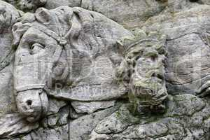 Detail of the rock relief - Arrival of the Magi