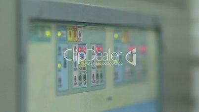 Gas leak detector control panel