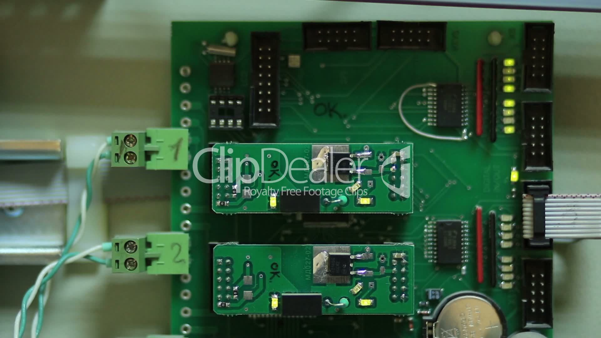Close Up Of Electronic Circuit Board Royalty Free Video And Stock Integrated