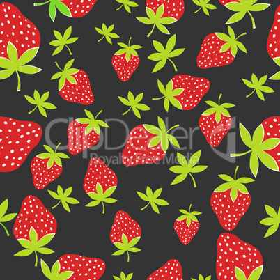 strawberry pattern vector seamless fresh berry background