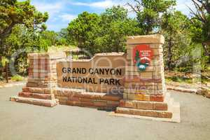 Entrance to the Grand Canyon National Park