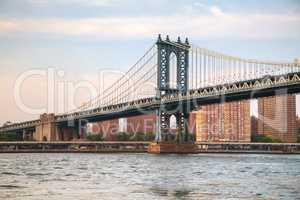 Manhattan bridge in New York City