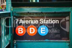 7th Avenue subway sign