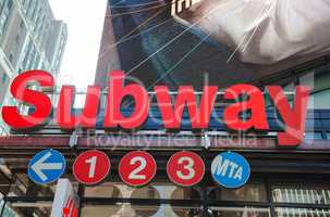 Subway station sign