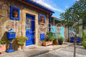 kleine Häuser in Collioure in Frankreich - small houses in Collioure in France