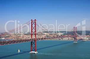 Lissabon Bruecke - Lisbon bridge 01