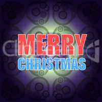 Classic Holiday Lettering Series. Merry Christmas and Happy New Year greetings card