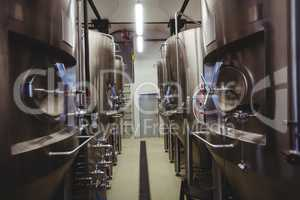 Manufacturing equipment in brewery