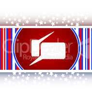 glossy speech bubble web button icon
