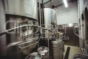 Manufacturing machinery in brewery