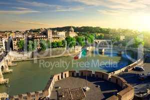 View on Tiber