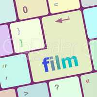 film button on computer pc keyboard key