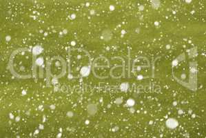 Light Green Christmas Paper Background, Copy Space, Snowflakes