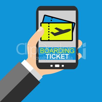 Boarding Ticket auf dem Smartphone