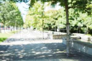 Blur view of park