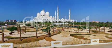 Scheich Zayid Moschee in Abu Dhabi Vereinigte Arabische Emirate