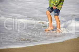 Füße im Meer Urlaub auf Sylt in der Nordsee