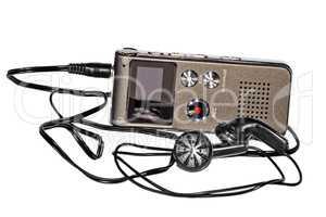 Voice recorder with headphones