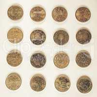 Vintage Euros money