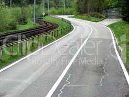 Winding Road near train track