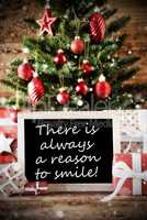 Christmas Tree With Quote Always A Reason To Smile