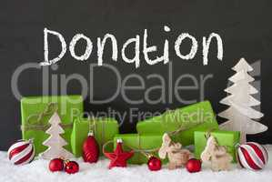 Christmas Decoration, Cement, Snow, Text Donation