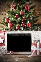 Christmas Tree With Bokeh Effect, Copy Space