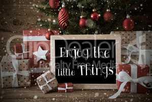 Nostalgic Christmas Tree, Quote Enjoy The Little Things, Snowfla