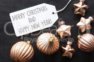 Bronze Tree Balls, Merry Christmas And Happy New Year