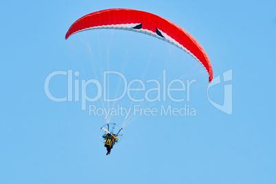 Moto paragliding