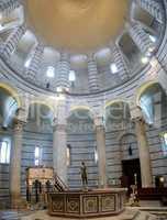 Pisa's Cathedral Square (Piazza del Duomo): Baptistry interior
