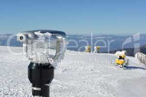 Spy viewing machine and snow guns