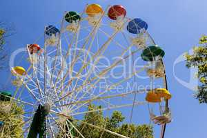 Attraction in the Park: Ferris wheel.