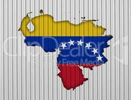 Karte und Fahne von Venezuela Wellblech