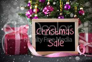 Tree With Gifts, Snowflakes, Bokeh, Text Christmas Sale