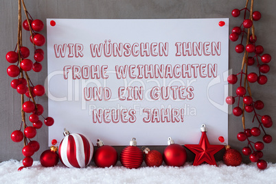 Label, Snow, Christmas Balls, Gutes Neues Means New Year