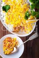 Indian Biryani Casserole with Shrimp